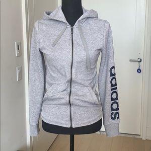 EUC Adidas Grey ZIP Hoody Sweatshirt